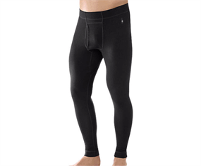 Smartwool NTS MID Baselayers Bottom Black Herre 250g/m²