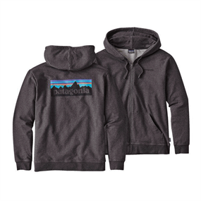 Patagonia Mens P-6 Logo Hoody Full-zip Black
