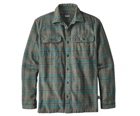 Patagonia Mens L/S Fjord Flannel Shirt Buffalo-S