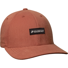 Sage 6-Panel Logo Hat - Rust - One Size