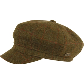 MJM Birgitta Wool-Cashmere Hat - One Size - Green Check