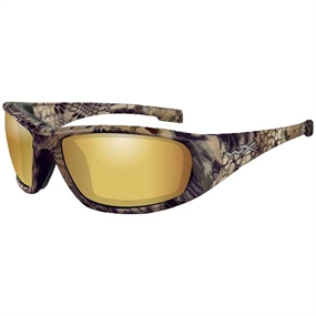 Wiley X Boss Pol Amber Gold Mirror Lens Fiskebrille