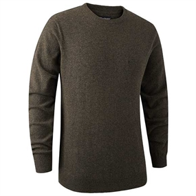 Deerhunter Brighton Knit O-neck - Dark elm
