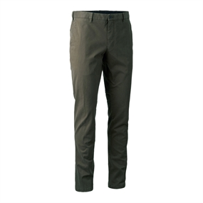 Deerhunter Casual Trousers - Brown leaf