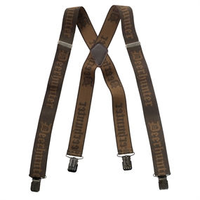 Deerhunter Logo Braces w. Clips - 130 cm - Art green - one size