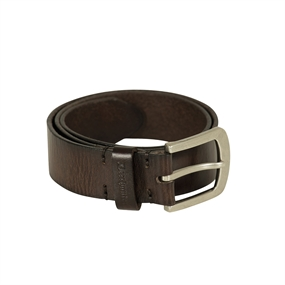 Deerhunter Leather Belt, width 4 cm - Dark Brown