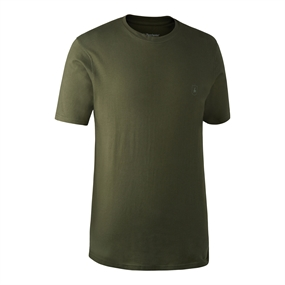 Deerhunter T-Shirt 2-Pack - Green/Brown