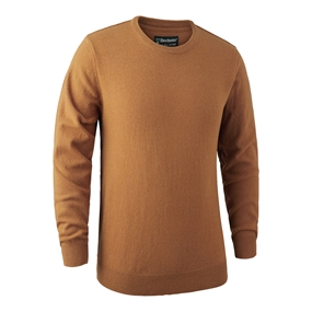 Deerhunter Brighton Knit O-neck - Yellow mel.