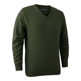 Deerhunter Brighton Knit V-neck - Green