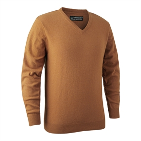Deerhunter Brighton Knit V-neck - Yellow mel.