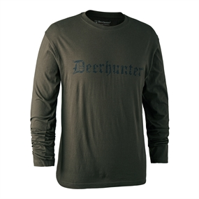 Deerhunter Logo T-shirt L/S - Bark green