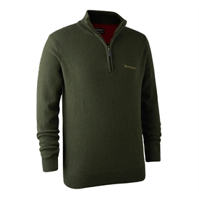 Deerhunter Hastings Knit Zip-neck - Green