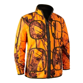 Deerhunter Gamekeeper Bonded Fleecejakke - vendbar - Orange GH Camo
