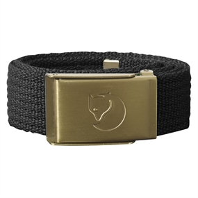 Fjällräven Kids Canvas Brass Belt - Dark Grey - 1 Size