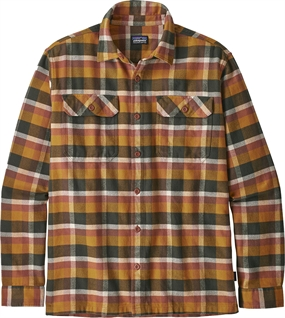 Patagonia Fjord Flannel Shirt LS - Observer Wren Gold