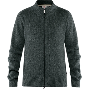Fjällräven Greenland Re-Wool Cardigan - Dark Grey