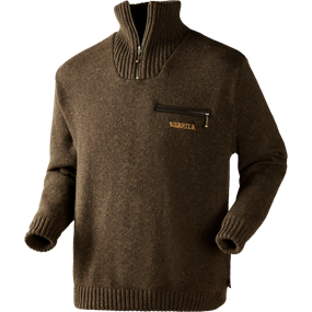 Härkila Annaboda sweater - Demitasse brown melange
