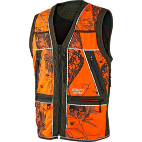 Härkila Safety vest - Green w/orange