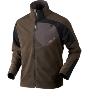 Härkila Thor fleece jakke - Shadow brown/Black