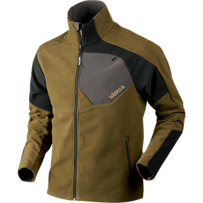 Härkila Thor fleece jakke - Olive green/Black