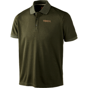Härkila Gerit polo shirt - Dark olive