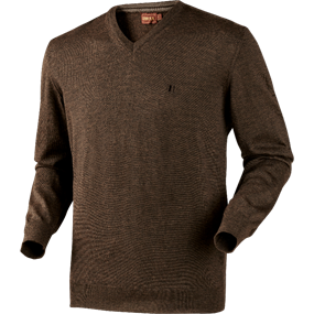 Härkila Jari pullover - Shadow brown melange