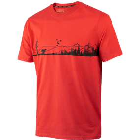Härkila Odin Hunter & dog t-shirt - Fiery red