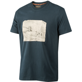 Härkila Odin Moose & Dog t-shirt - Dark navy