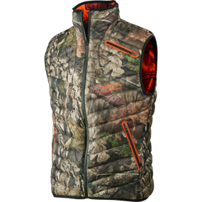Härkila Moose Hunter Reversible dunvest - MossyOak®Break-Up Country®/MossyOak®OrangeBlaze