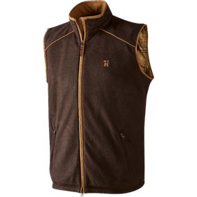 Härkila Sandhem fleece vest - Dark port melange