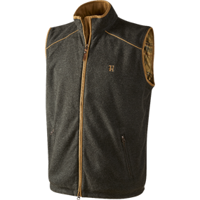 Härkila Sandhem fleece vest - Earth grey melange