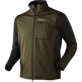 Härkila Vestmar Hybrid fleece jakke - Rifle green melange