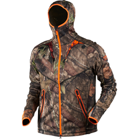 Härkila Moose Hunter fleece jakke - MossyOak®Break-Up Country®/MossyOak®OrangeBlaze