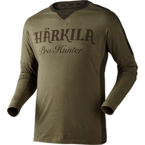 Härkila Pro Hunter L/S t- shirt - Lake green/Shadow brown