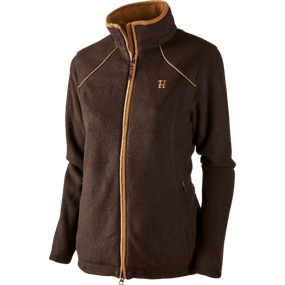 Härkila Sandhem Lady fleece jakke - Dark port melange