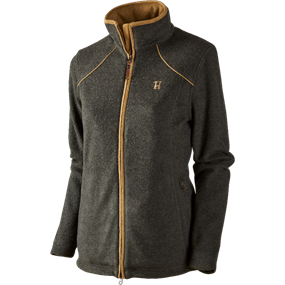 Härkila Sandhem Lady fleece jakke - Earth grey melange