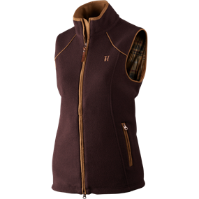 Härkila Sandhem Lady fleece vest - Dark port melange