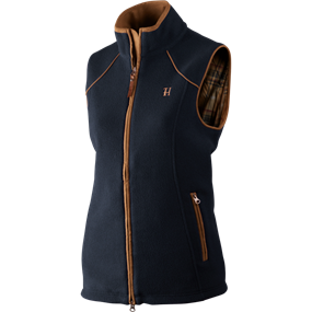 Härkila Sandhem Lady fleece vest - Dark navy melange
