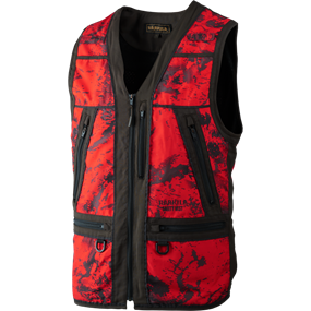 Härkila Lynx Safety vest - AXIS MSP® Red Blaze/Shadow brown