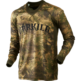 Härkila Lynx L/S t-shirt - AXIS MSP® Forest green