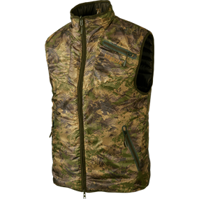 Härkila Lynx Insulated Reversible vest - Willow green/AXIS MSP® Forest green