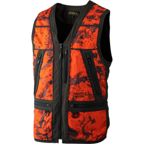 Härkila Lynx Safety vest - AXIS MSP® Orange Blaze/Shadow brown