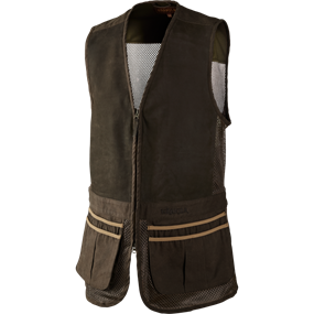 Härkila Sporting vest - Dark khaki/Demitasse brown