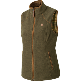 Härkila Sandhem Lady fleece vest - Dusty lake green melange