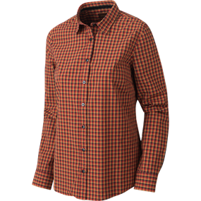 Härkila Selja Lady L/S Check skjorte - Red/Black check