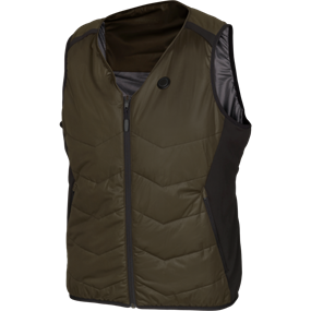 Härkila Härkila Heat v-hals vest - Willow green/Black