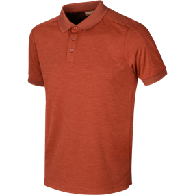 Härkila Härkila Tech polo - Dark burnt orange