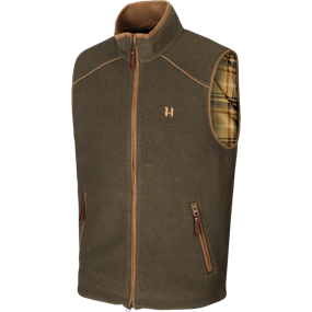 Härkila Sandhem fleece vest - Willow green melange