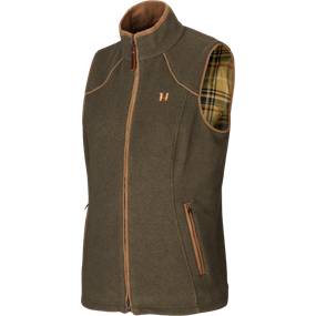 Härkila Sandhem Lady fleece vest - Willow green melange