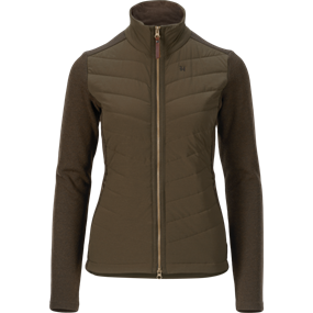 Härkila Retrieve Insulated Lady cardigan - Dark warm olive